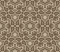 Beige moroccan ornament in vector Stock Image