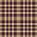 Beige and purple plaid Stock Image