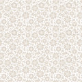 Beige seamless floral pattern. Vector illustration. Royalty Free Stock Photo