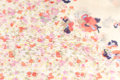 Beige Silk Fabric With Flowers