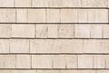 Beige stained cedar shingles Royalty Free Stock Photo