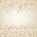 Beige valentine background with many flowers vector illustration Royalty Free Stock Images