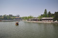 Beihai park beijing lake in in china Royalty Free Stock Photo