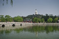 Beihai park beijing white stupa in in china Stock Images