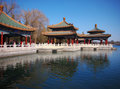 The Beihai Park Five-Dragon Pavilion,Beijing Stock Photo