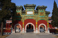 Beihai park small west area is located in built in the qing emperor qian long years ad built in the qing emperor qian long years Royalty Free Stock Photography