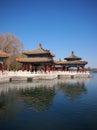 Beijing Beihai Park Five-Dragon Pavilion Royalty Free Stock Photo