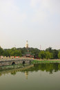 The beijing beihai park white pagoda tourism landscape Royalty Free Stock Photo