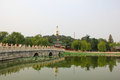 The beijing beihai park white pagoda tourism landscape Royalty Free Stock Photos