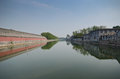 Beijing canal around forbidden city in Stock Photo