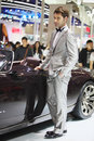 Beijing China April 27,male model in auto show Royalty Free Stock Images