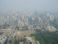 Beijing china august the view on beijing s skyline o a day with a very high and unhealthy smog level Royalty Free Stock Photography