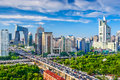 Beijing china cbd cityscape at the Royalty Free Stock Images