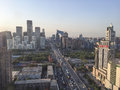 Beijing china circa june the view on beijing s financial center gumao a sunny day in Stock Photo
