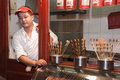 Beijing China Street Sea Food Vendor, Scorpions Royalty Free Stock Image