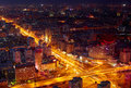 Beijing cityscape at dusk Royalty Free Stock Images