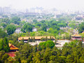 Beijing Forbidden City buildings Royalty Free Stock Photo