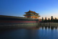 Beijing forbidden city lying at the center of the called gu gong in chinese was the imperial palace during the ming and qing Stock Image
