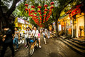 Beijing hutong nanluoguxiang street which is a famous area in old town on a summer day Stock Photo