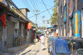 Beijing hutong qianmen old hutongs landscape Stock Photography
