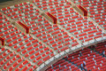 Beijing national olympic stadium bird s nest within the landscape Royalty Free Stock Images