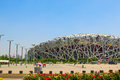 Beijing national olympic stadium bird s nest venues construction details Royalty Free Stock Photo