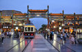 Beijing  Qianmen cstreet night scenes Tramcar Stock Photo