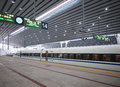 Beijing railway station high speed ​​rail south is the world s largest in Stock Photo