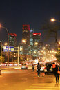 Beijing's central business district Royalty Free Stock Photo
