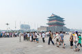 Beijing's main square - Tiananmen Royalty Free Stock Photography