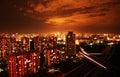 Beijing's night scene Royalty Free Stock Image