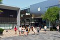 Beijing sanlitun village shopping plaza is a place where young people often come to this is popular vane a lot of Royalty Free Stock Images