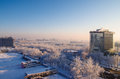 Beijing in snow Royalty Free Stock Photos