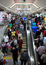 Beijing subway station oct passangers crowd a during national day holiday on oct in china s lines carry Royalty Free Stock Photos