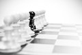 Being different single little pawn from others Stock Image