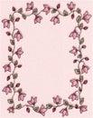 Beira floral cor-de-rosa do frame da foto Imagem de Stock Royalty Free