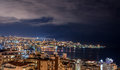 Beirut and Jounieh Skyline Royalty Free Stock Photo