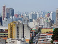 Bela vista and east zone overview of district in são paulo brazil on background part of the of the city many towers residential Stock Photography