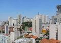 Bela vista overview of district in são paulo brazil Royalty Free Stock Photo