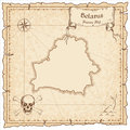 Belarus old pirate map.