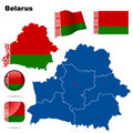 Belarus set. Royalty Free Stock Photo