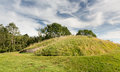 Belas Nap barrow on Cleeve Hill Cotswolds Stock Photos