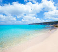 Belearic Formentera Escalo white sand beach Royalty Free Stock Images