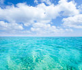 Belearic islands turquoise sea under blue sky Stock Images