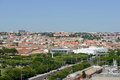 Belem district skyline lisbon portugal from monument to the discoveries Stock Images