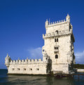 Belem tower lisbon torre de on the tagus river guarding the entrance to in portugal Stock Photos