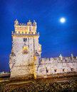 Belem tower in lisbone city portugal Stock Photo