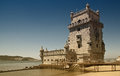 Belem tower picture of the of belém in lisbon portugal Royalty Free Stock Photo