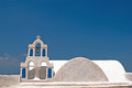 Belfry at blue sky on Mykonos island Royalty Free Stock Photo