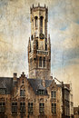 Belfry of Bruges, Belgium Royalty Free Stock Image